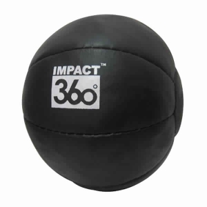 LEATHER MEDICINE BALL 10 PANEL BLACK