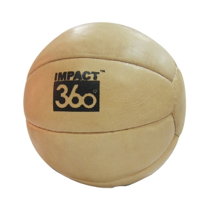 LEATHER MEDICINE BALL 10 PANEL NATURAL