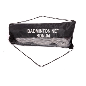 BADMINTON NET TETRON & MESH BAG WITH DRAW STRING