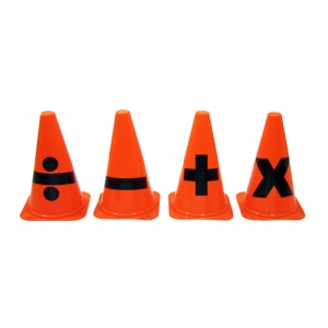 ARITHMETIC SYMBOL CONES - HEAVY DUTY