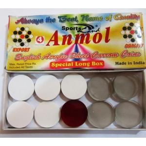 CARROM MEN ACRYLIC SHEET WITH BLISTER PACKING